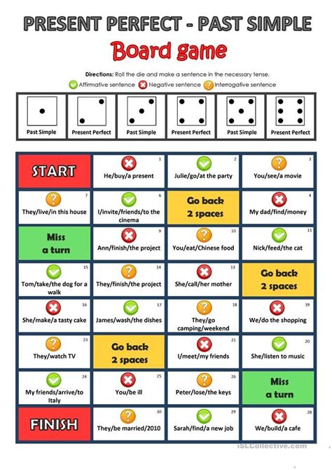 present perfect or past simple game