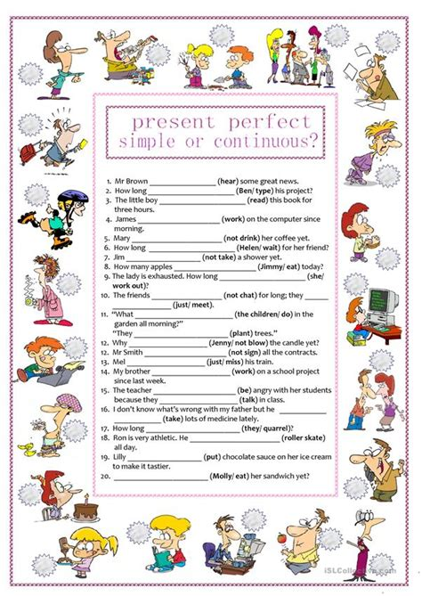 present perfect simple worksheets free