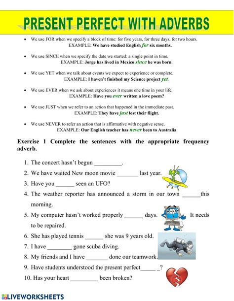 present perfect with adverbs of frequency