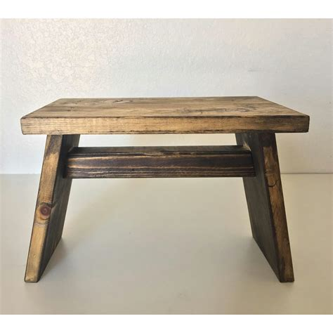 Primitive Wooden Riser End Table