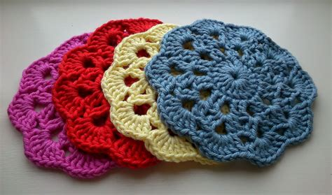 printable crochet patterns for coasters