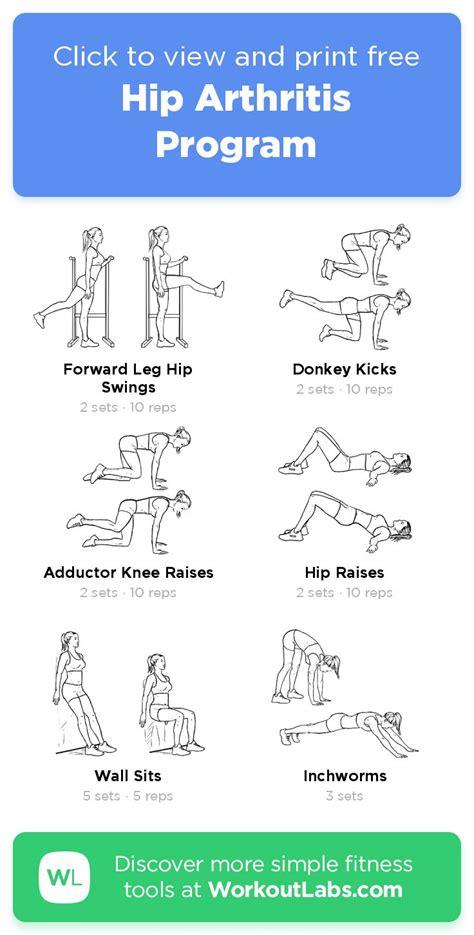 printable hip exercises for arthritis