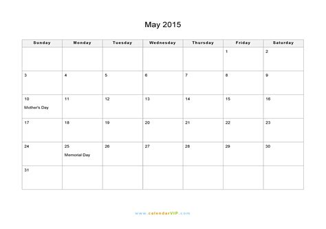 Calendar Template For May 2015 Militaryalicious