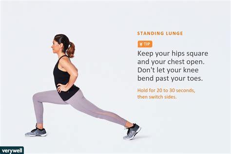 printable standing hip flexor stretch instructions for form 8962