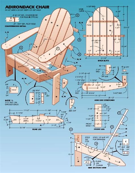 Printable Adirondack Chair Plans