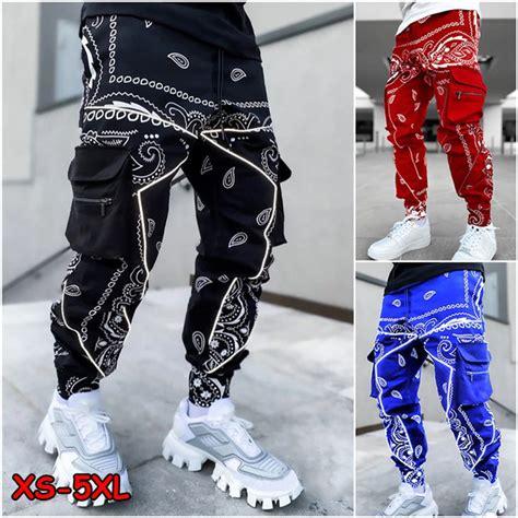 printed hip hop pants