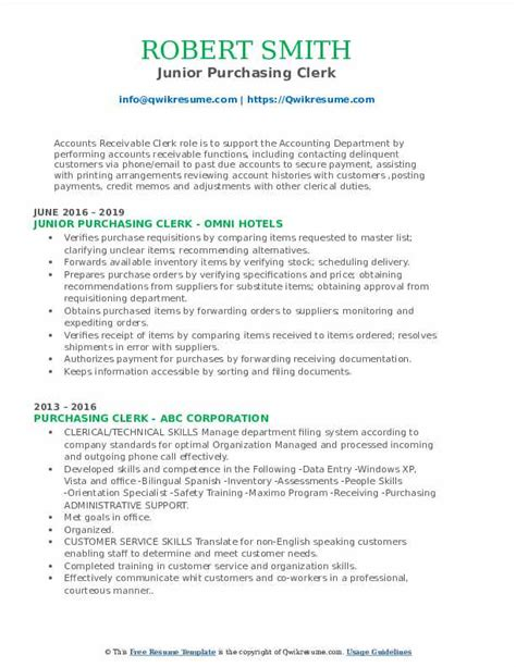 procurement clerk resume sample resume samples free sample resume examples - Procurement Resume
