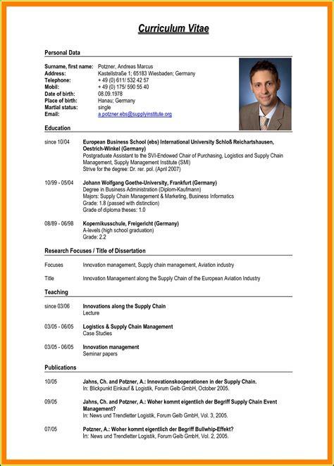 Professional Curriculum Vitae Template Download Curriculum Vitae O Cv