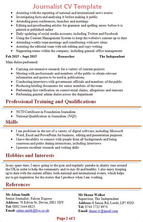 professional journalist resume journalism resume sample