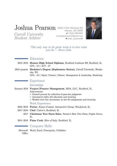 Professional Resume Template In Latex Latex Resume Examples The Linux Daily