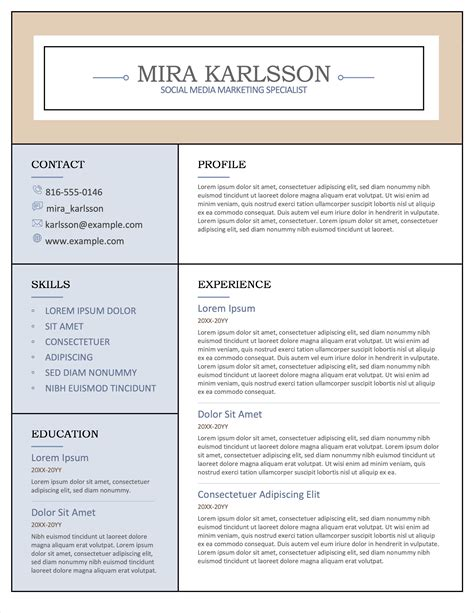apache open office resume template