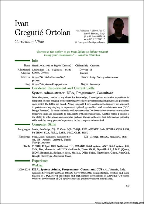 Professional Resume Format For Freshers Pdf Professional Resume Pdf Samplesresume Format Pdf For