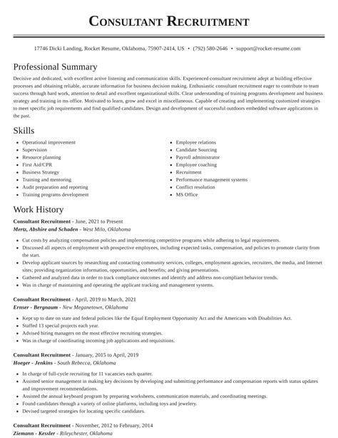 Professional Resume Services Mississauga Profile Recruitment Consultants