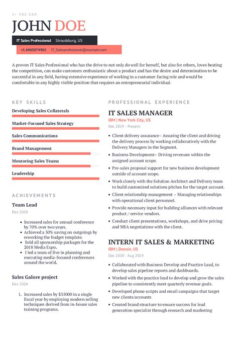 Professional Resume Template Sales Sales Resume Template 41 Free Samples Examples Format