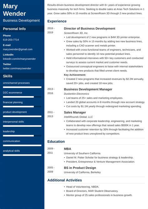 professional resume makers in kolkata sample business development cv careerride