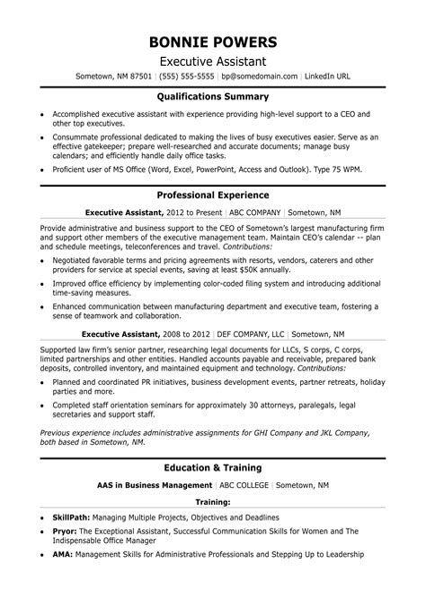 professional sample legal secretary resume executive secretary sample resume template