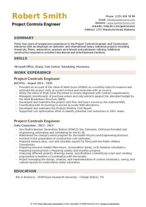 project control engineer resume sample project engineer sample resume career faqs - Project Control Engineer Sample Resume