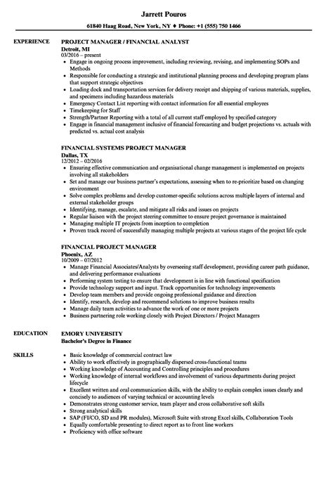 project finance resume example best financial analyst resume