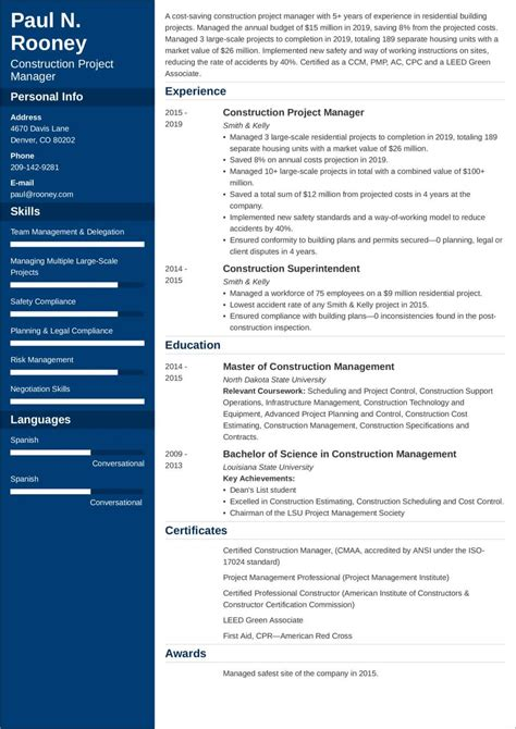 project manager resume example entry level  how write a cover  project manager resume example entry level project manager cv template construction project
