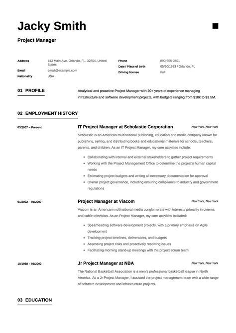 free scrum master resume