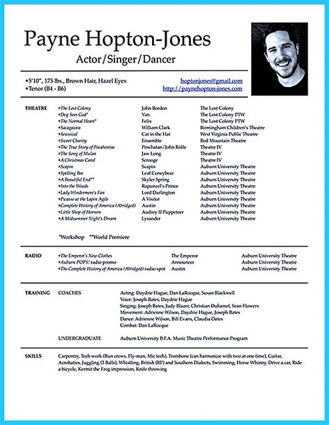 proper acting resume format best resume formats 47free samples examples format