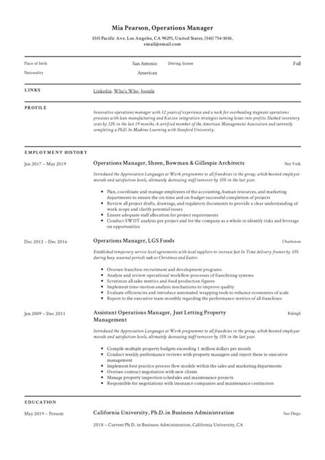 property manager resume sample operations manager resume sample resume - Sample Property Manager Resume