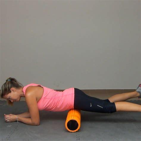 psoas and hip flexor stretches with foam
