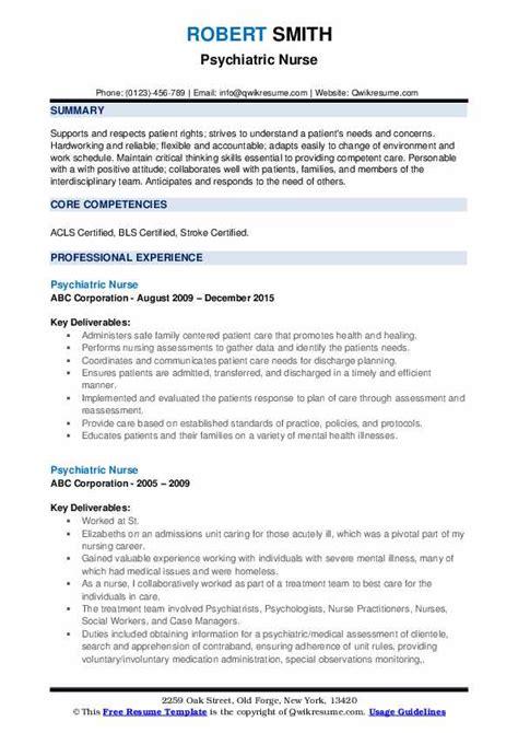 psychiatric nurse resume pharmacy technician resume experience