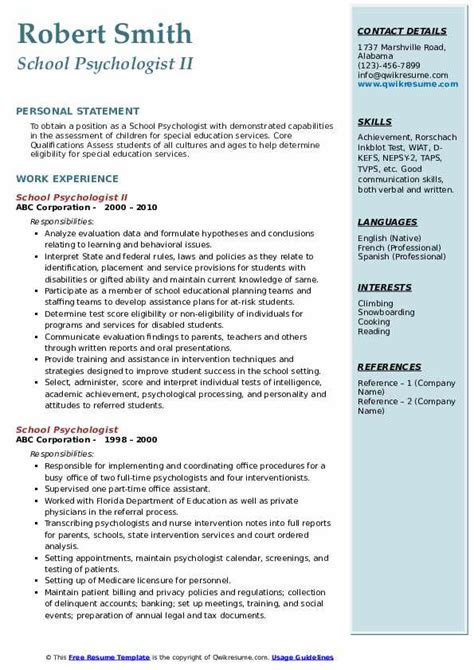 cv example for psychologist psychologist cv template example job description mental