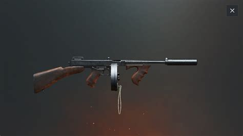 Tommy-Gun Pubg Attachments For Tommy Gun.