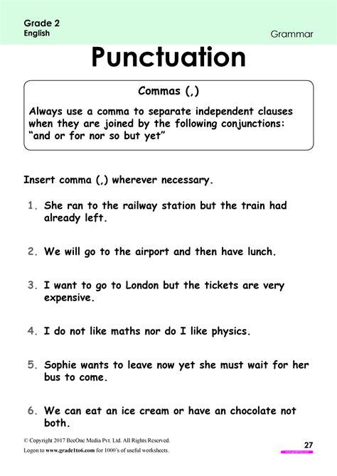 punctuation exercises in english pdf
