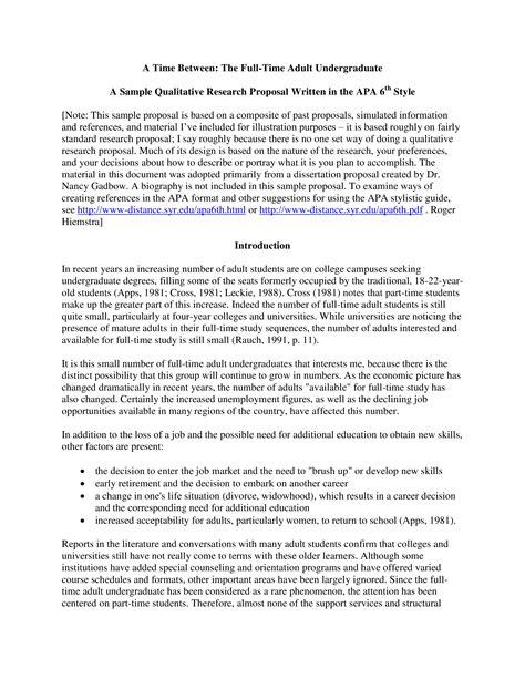 Elements of a qualitative research proposal Tina Shawal Photography