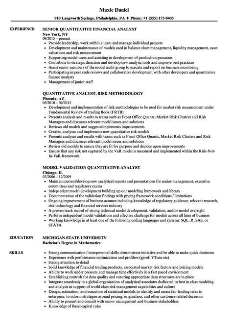 Quantitative Analyst Cover Letter Sample LiveCareer Fast Online - Quantitative analyst resume