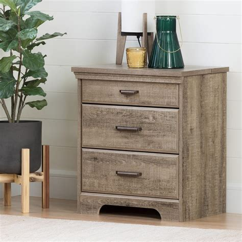 Quebec Nightstand with Charging Station