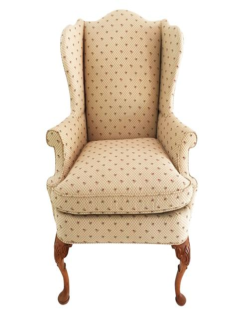 Queene Anne Wingback Chair