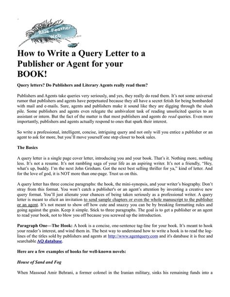 Email query letter screenplay resumes best format email query letter screenplay query letter query letters literary agent altavistaventures Image collections