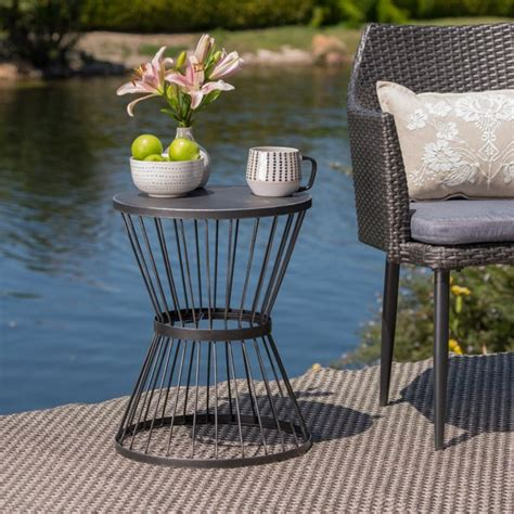 Quigley Outdoor Iron End Table