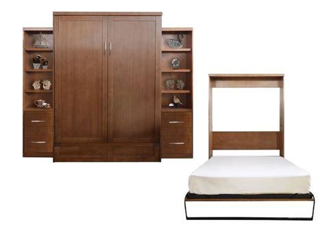 Quinn Queen Murphy Bed with 2 Drawer Bookcase byBrayden Studio