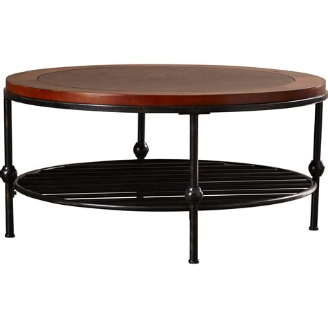 Radersburg Leather Cocktail Table