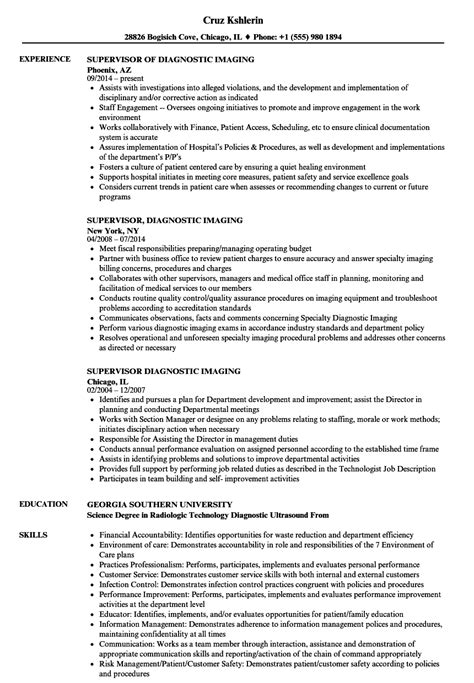 resume examples for x ray tech