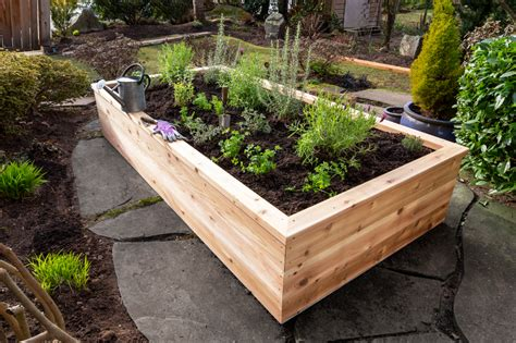 raised planter bed free plans
