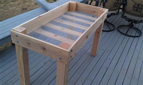 Raised Garden Table Plans