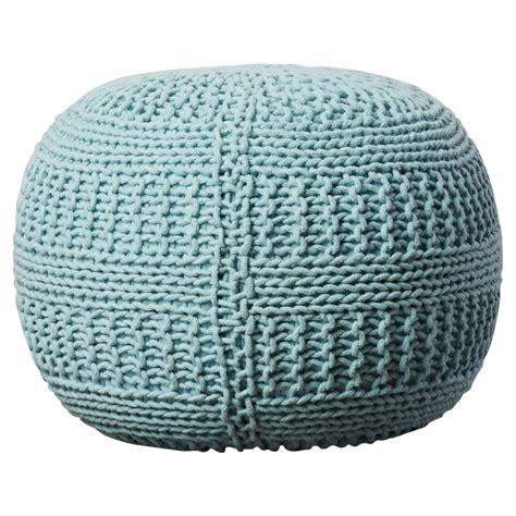 Ramon Color Cable Knit Pouf