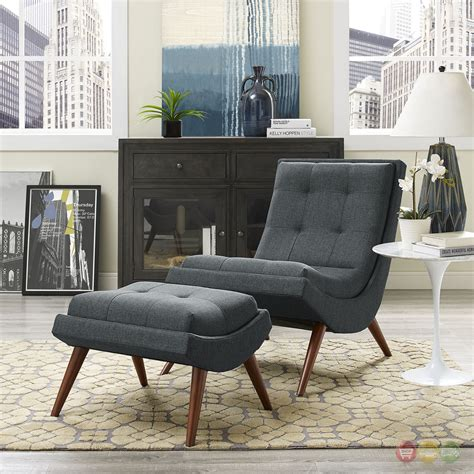 Ramp Lounge Chair and Ottoman