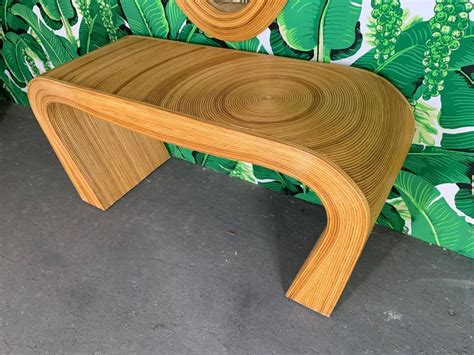Rattan Console Table And Mirror