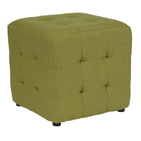 Rayl Tufted Upholstered Cube Ottoman