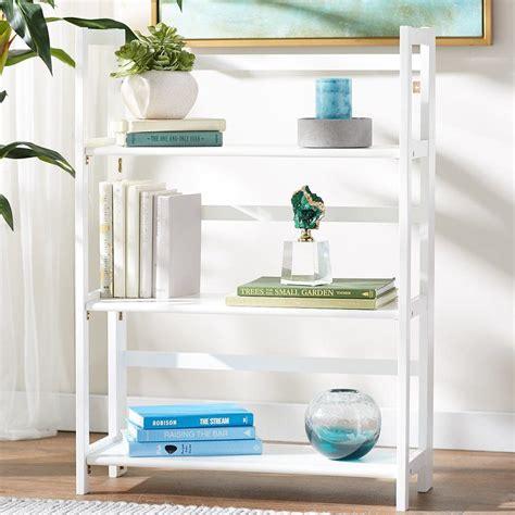Reanna 3 Shelf Folding Standard Bookcase