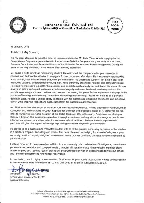 Recommendation Letter Academic Sample Academic Recommendation Letters The Balance