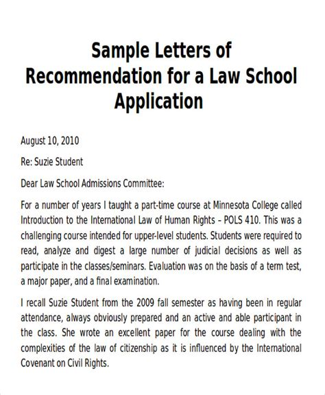 Recommendation Letter For Law School Applicant Law School Letters Of Recommendation Advice