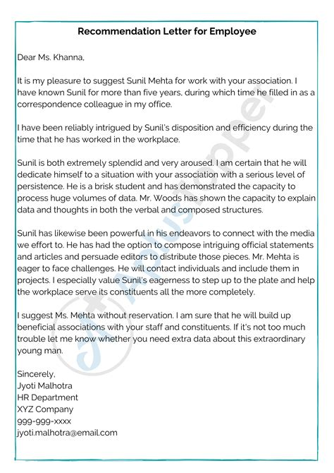 Recommendation Letter Student Doc Writing A Letter Of Recommendation For Student Sample